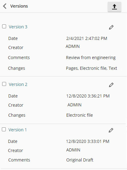 Automatic versioning in an ECM system.